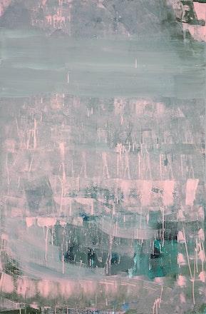 Pintura Sem Título (Padronagem Cinza e Rosa), 2014