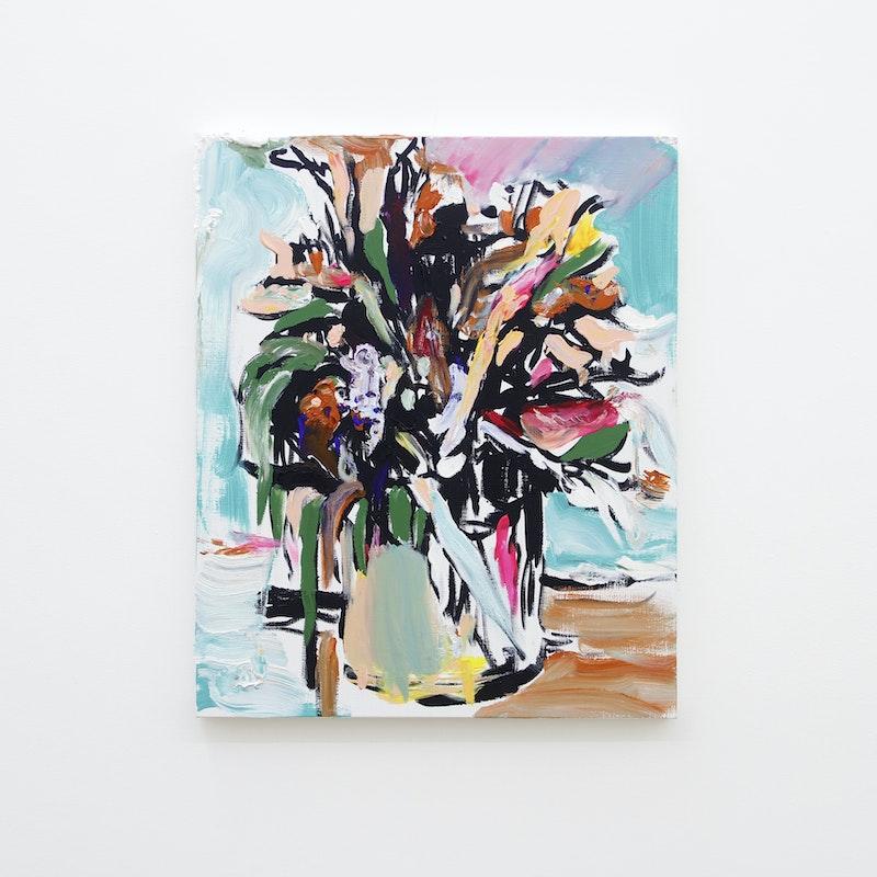 Pintura sem título (Vaso de Flores), 2017
