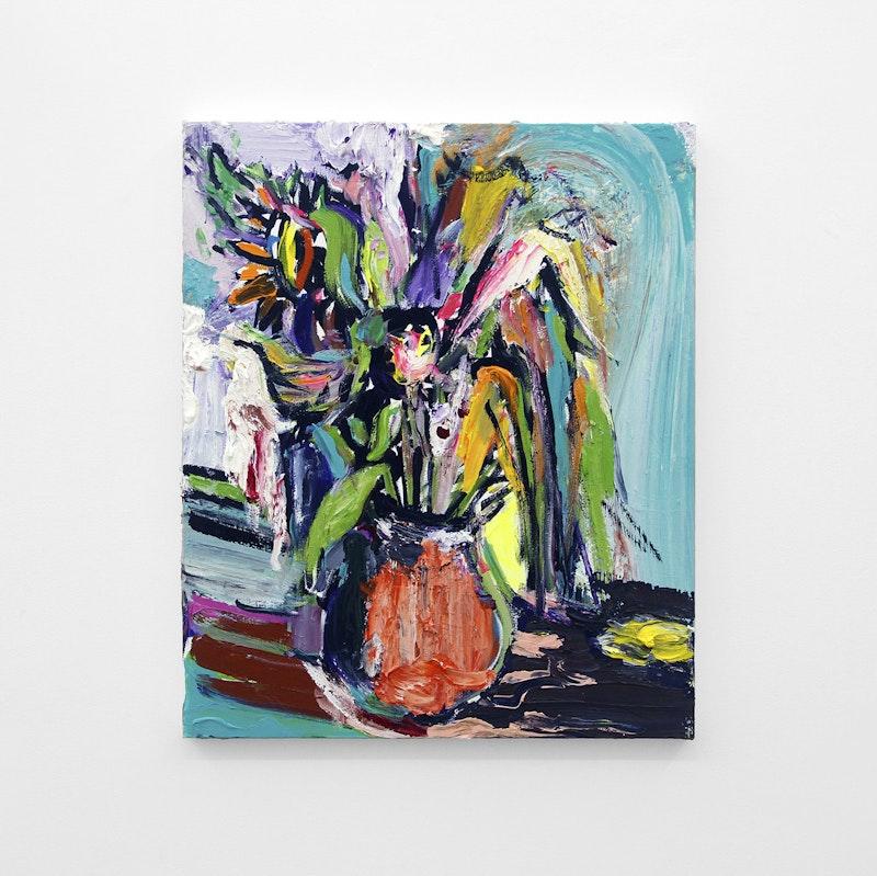 Pintura sem título (Vaso de Flores 3), 2017