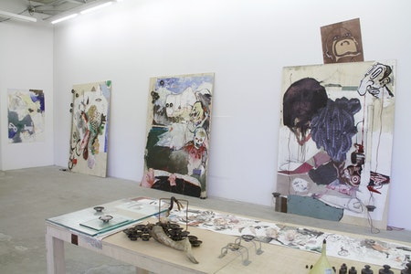 Exhibition view from 'Projeto Cavalo: Quadrivium 8 patas', 2017