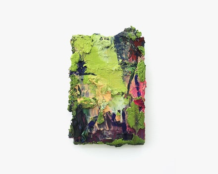 Untitled painting (Empasto Neon), 2016