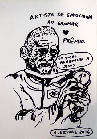 Alvaro Seixas _ Desenho sem título (Artista ganha prêmio)