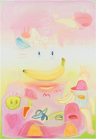 Pedro Caetano - Boka Loka - Óleo sobre tela, 220 x 150 cm, 2015