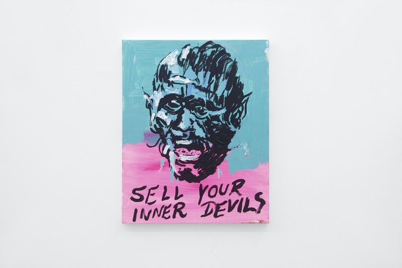 Untitled Painting (Sell Your Inner Devils), 2017