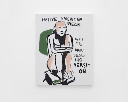 Pintura sem título (Native American Piece), 2017
