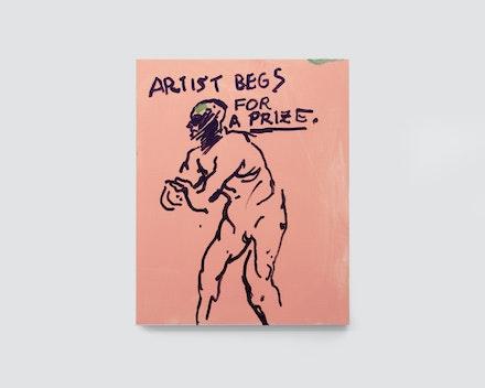 Pintura sem título (Artist begs for art prize), 2017