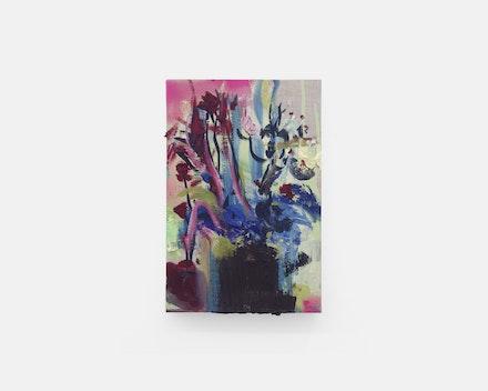 Pintura sem título (Vaso de Flores 4), 2017