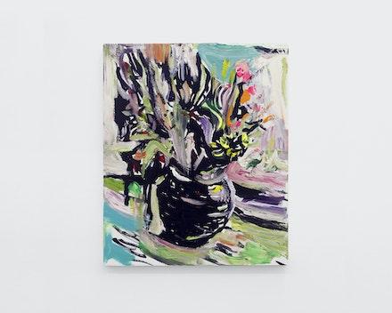 Pintura sem título (Vaso de Flores 5), 2017