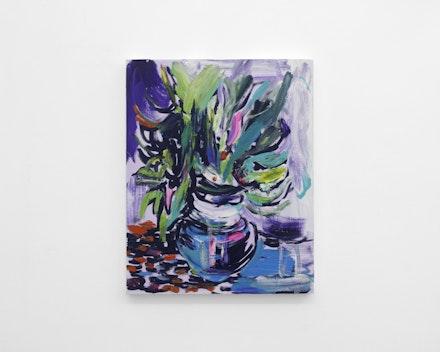 Pintura sem título (Vaso de Flores 2), 2017