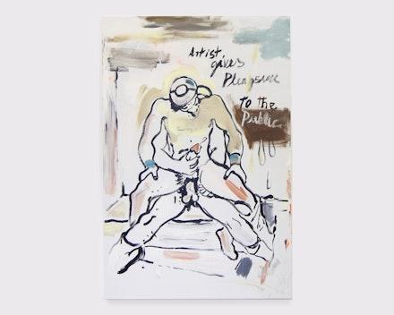 Pintura sem título (Pleasure – segundo Jean Cocteau), 2017