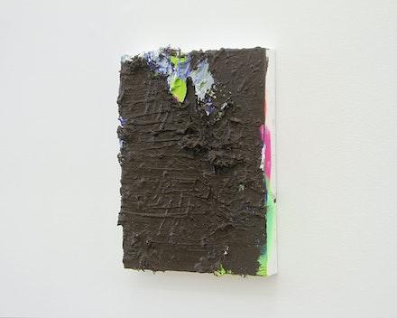 Pintura sem título (Empasto marrom), 2017
