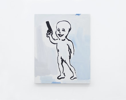 Untitled Painting (Character with Gun), 2017