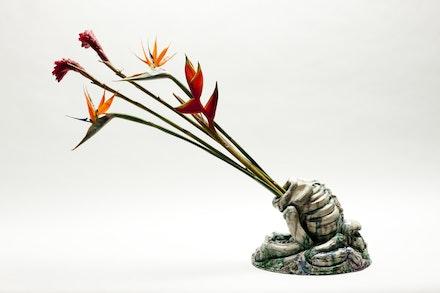 Esqueleto com Flores 3, 2011