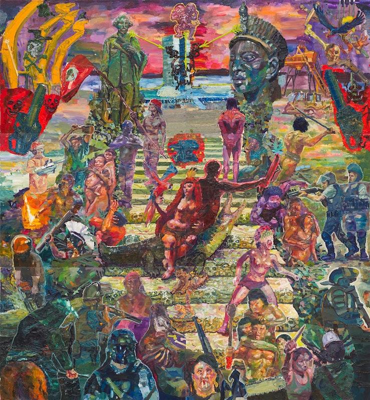 A Rébis Mestiça coroa a escadaria dos mártires indigentes, 2013