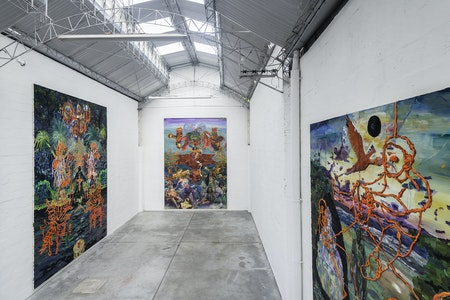 Exhibition view from 'Teatro Nagô Cartesiano e o Corte Azimutal do Mundo', 2013