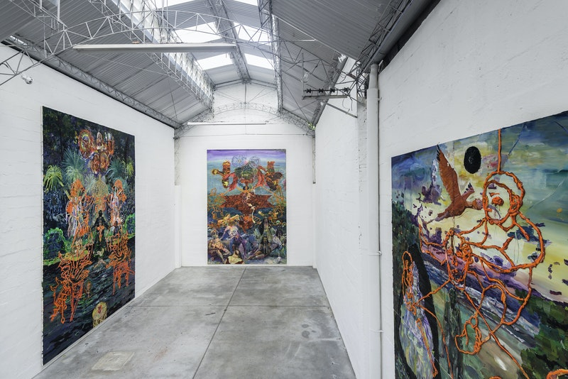Exhibition view from 'Teatro Nagô Cartesiano e o Corte Azimutal do Mundo', 2013