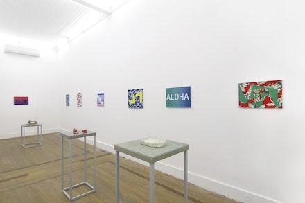 Vista da exposição 'Batom', 2018