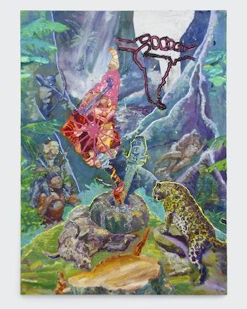 Entranhas da Sumaúma continental - Thiago Martins de Melo - 2019 - óleo sobre tela - (180 x 130 cm) (7)