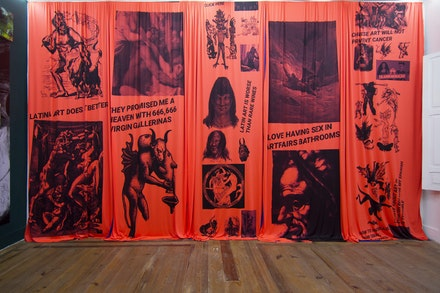 04. Cavalo _ The Importance of the Devil by Alvaro Seixas _ Latin Art, 2019_ sublimation printing on synthetic fabric _ variable dimensions